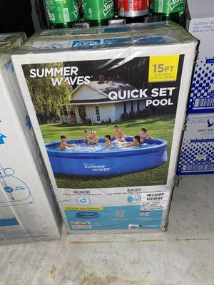 Summer waves Quick set Pool 15ft x36in with filter for Sale in Cranbury Township, NJ