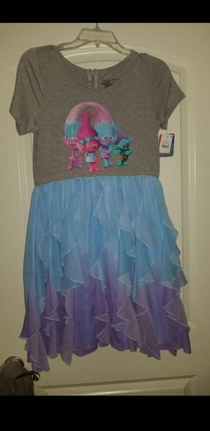 Dream works trolls girl dress new size xl 14-16 $15.00 for Sale in Wood Dale, IL