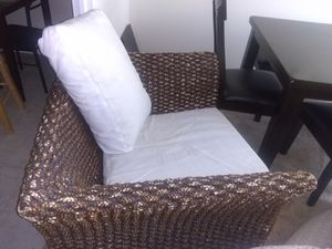 Wide Wicker chair for Sale in Alexandria, VA
