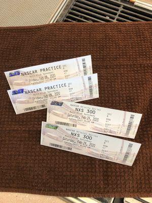 (2) NASCAR Tickets- Fri & Sat races 2/28 & 29 for Sale in Hesperia, CA
