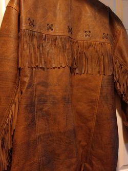 Men's Leather Coat With Fringes Xl for Sale in Las Vegas,  NV