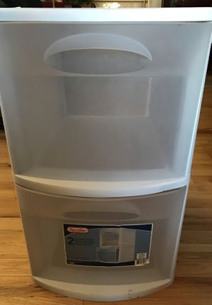 Sterilite Plastic 2 Drawer Cabinet for Sale in New York, NY