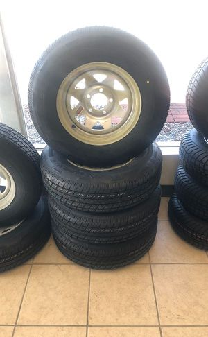 "Boat trailers. 14"" 5 lug. 205/75/14"". Tires. New radial on sale. - We carry all trailer tires, trailer parts, trailer repair - trailer welding for Sale in Plant City, FL"