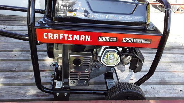 Craftsman 5500 watt generator 6250 starting Watts