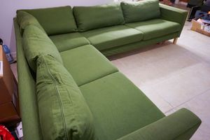 Karlstad Sectional Sofa (washable cushion covers) Moving in three days for Sale in Potomac, MD