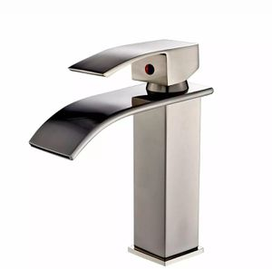 Bathroom sink faucet brushed nickel waterfall spout basin for Sale in Boca Raton, FL