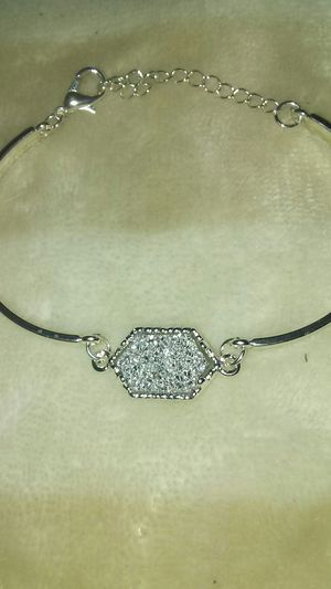 Natural Drusy Quartz Nyggets Silver Bracelet for Sale for sale  North Las Vegas, NV