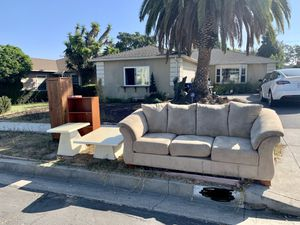 Free sofa, coffee table for Sale in Los Angeles, CA