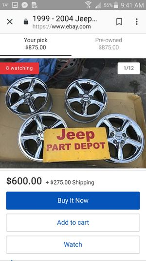 4 235/75/17 tires on stock jeep rims good condition. Hard to find for Sale in Belle, WV