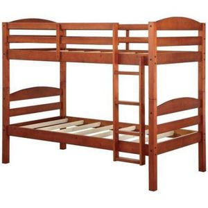 BHG Leighton Twin Over Twin Wood Bunk Bed, Description:Easily converts to two stand-alone twin beds Designed to accommodate a mattress without a box for Sale in Bellaire, TX