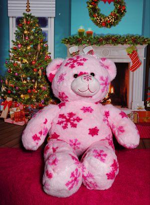 Build A Bear Pink Snowflake Winter Hugs Flurry Teddy Stuffed BABW Plush Retired for Sale in Dale, TX