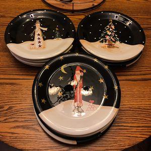 12 Becca Barton Christmas dinner plates $50 or best offer for Sale in Baxter Springs, KS