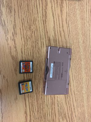 Nintendo Ds lite pink with 2 games for Sale in Miami, FL