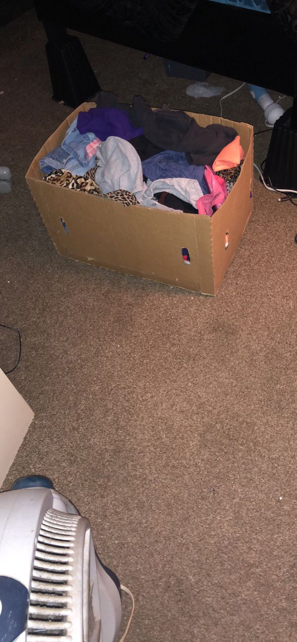 Box of women's clothes