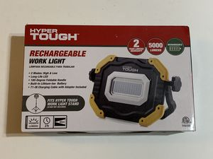 Hyper Tough 5000-Lumen Rechargeable Work Light for Sale in Garden Grove, CA