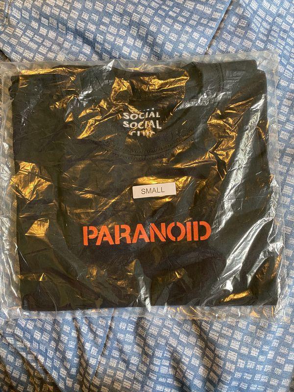 Anti Social Social Club X Undefeated Paranoid Logo T-Shirt 'Black' Size S