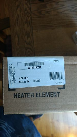 Genuine Whirlpool W10518394 Dishwasher Heater (including nuts) for Sale in Beaverton, OR