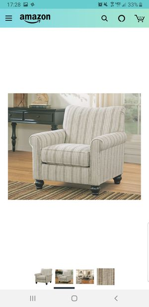 Signature Design by Ashley - Milari Classic Striped Accent Chair, Off-White for Sale in McPherson, KS