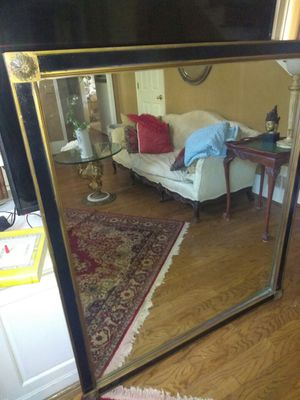 Rare large mirror black and gold FREE DELIVERY for Sale in Atlanta, GA