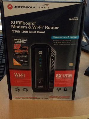 Modem with router open box for Sale in Stone Mountain, GA