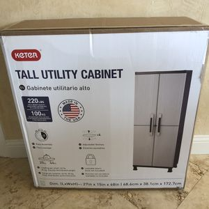 Keter Plastic Freestanding Utility Storage Cabinet for Sale in Corinth, TX