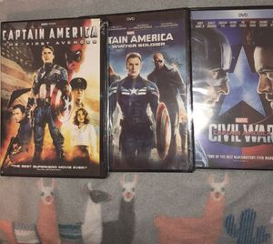 Captain America DVD bundle, brand new, in plastic for Sale in Lovettsville, VA
