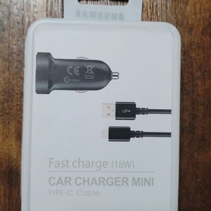 Samsung Type C Fast Car Charge Mini 18 Watts. Cargador Samsung De Carro Carga Rapida 18 Watts for Sale in Los Angeles, CA