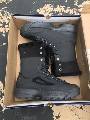 Black and army green fila boots for Sale in Springfield, VA