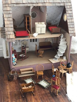 Antique Doll house 🏡 with most of the accessories that you see in the picture ms for Sale in Whittier, CA