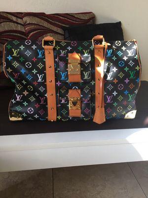 Louis Vuitton weekend bag/ black multi-color 45 for Sale in Miami, FL