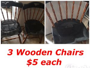 3 Wooden Chairs / $5 each for Sale in Pflugerville, TX