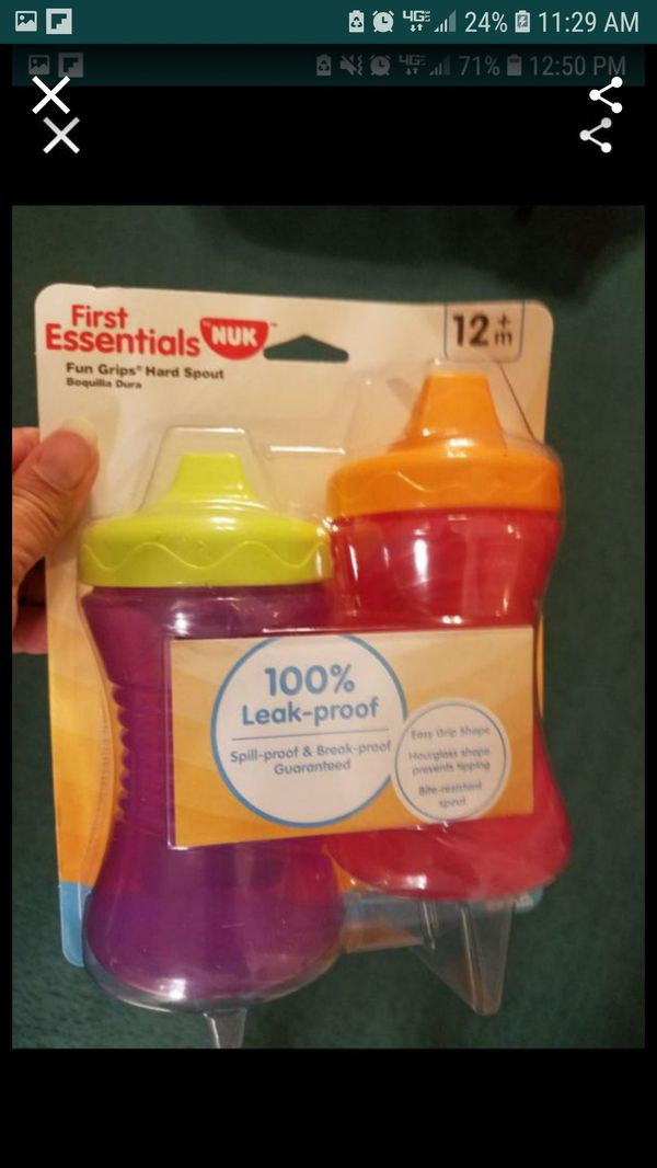 Girls sippy cups brand new in the package