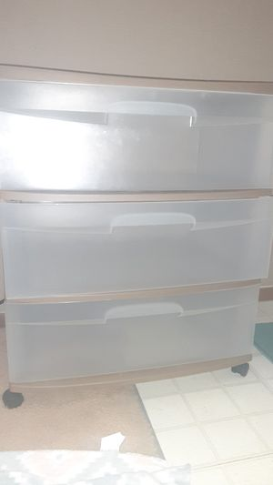 3 drawer clear storage for Sale in Gahanna, OH