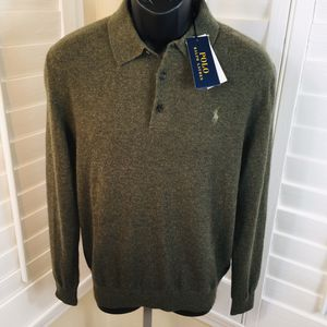Polo Ralph Lauren Machine Washable Cashmere Sweater, Olive - Men's M - Brand New w/Tags $298 for Sale in Glendale, AZ