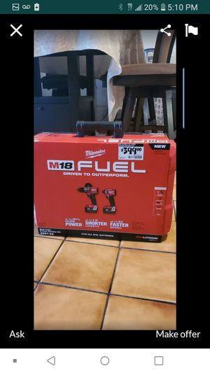 MILWAUKEE 2997-22 M18 FUEL BRUSHLESS 2 TOOL COMBO KIT 3RD GENERATION👍💥👌💥👍👍 for Sale in Torrance, CA