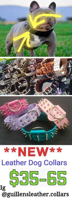Leather collars for Sale in Pomona, CA