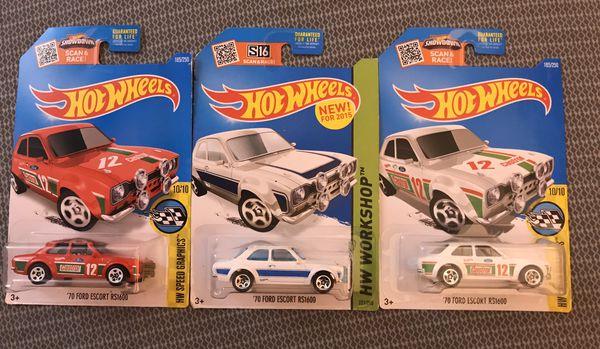 Hot Wheels Ford Escort lot