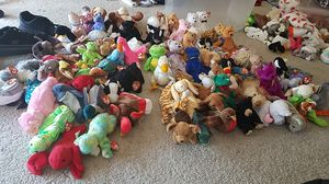Lot of 85 Ty Beanie Babies, all mint condition bodies with tags for Sale in Kent, WA