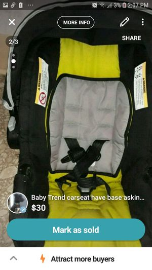 Baby trend carseat for Sale in Dunkirk, NY