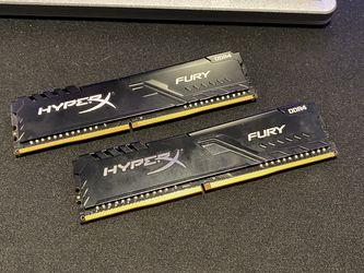 HyperX Fury 16gb (2x8gb) 3200mhz DDR4 for Sale in Bellevue,  WA