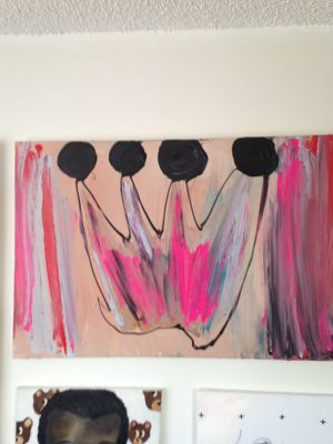 Princess Crown original painting on canvas by local artist for Sale in Nashville, TN
