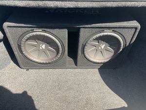 KICKER SUBWOOFERS AND AMP for Sale in Colton, CA