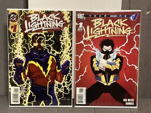 Set of 2 DC Comics BLACK LIGHTNING issue #1 Comic Books - First Prints - Key Issues !!! for Sale in Plainfield, IL