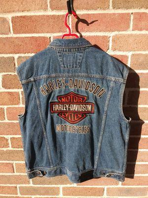 """Harley Davidson"" Mens Demin Motorcycle Jacket (Size L) for Sale in Houston, TX"