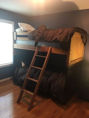 Bunk beds wood $200 for Sale in Columbus, OH