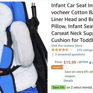 Infant Car Seat Insert, Body Support Pillow for Sale in Devon, PA
