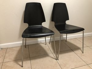 2 wood chairs for Sale in Sacramento, CA