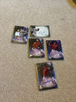 Lot of 5 rare autographed inception baseball cards for Sale in Auburn,  WA