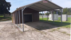 Infinity,Combo Carport,18' x 31' w/10' enclosed,w/7' Legs w/6' roll up door for Sale in Mount Selman, TX