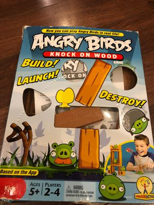 Angry birds knock on wood game - 2 to 4 players. Ages five and up for Sale in AZ, US
